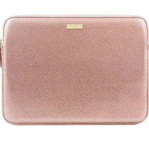 Kate Spade Glitter Laptop Sleeve-Rose Gold